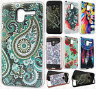 For Alcatel TRU Brushed Metal HYBRID Protector Rubber Case Phone Cover Accessory
