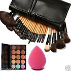15 Color Concealer Palette + Sponge Puff + 24 PCS Cosmetic makeup Brushes Set