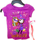 Halloween Looking Spooktacular Witch Girls T-shirt Hair L 10-12 NWT