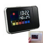 New Digital Weather LCD Projection Rest Snooze Alarm Clock Display LED Backlight
