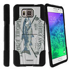 For Samsung Galaxy Alpha G850F Hybrid Hard Bumper Stand Case Fishing