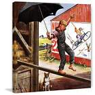 Marmont Hill Walking The Tightrope Stevan Dohanos Painting Print On Canvas