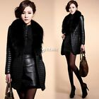 Women Warm Fur Collar Hooded Parka Winter Thick Outwear Jacket Winter  Overcoat
