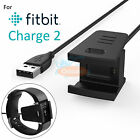 1× 2× USB Charging Cable Cord Charger For Fitbit Charge 2 Bracelet Wristband New