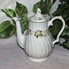 MYOTT CHINA LYKE COFFEE POT L727 AUTUMN LEAVES BROWN ENGLAND EARTHENWARE TEAPOT