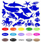 Sea Animals Set Vinyl Sticker Childrens Room Wall Decal Fish Whale Shell Nursery