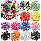 100~200pcs Candy Colors Round Resin Buttons Craft Scrapbook Sewing 15 mm 2 Holes