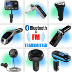 FM Transmitter Bluetooth Hands-free LCD MP3 Player Radio Adapter Car Kit Charger