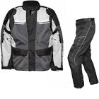 Agrius Columba Motorbike Jacket & Hydra REGULAR Leg Trousers Grey Stone Kit WP