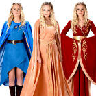 Game Of Thrones Ladies Fancy Dress Medieval Queen Cersei Daenerys Adults Costume