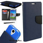 Flip Wallet Case For Samsung Phone PU Leather Pouch Cover DARK BLUE / BLACK +TPU $11.95 USD on eBay