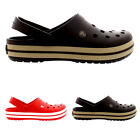 Mens Crocs Crocband Comfort Mules Clogs Casual Slip On Shoes Sandals All Sizes