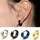 1 pair Men/Women Stainless Steel Stud Huggie Hoop Earrings Charm Elegant Punk