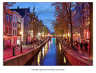 PS0214 Poster Print Urban STREET Amsterdam Red Light District city Holland