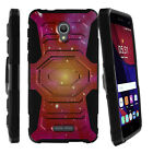 For Alcatel Fierce 4 | Pop 4+ Rugged Clip Holster Kicstand Case Galaxy