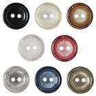Pack of 3 Hemline Shimmery Crackle Effect 2 Hole Sew Through Dish Buttons 17.5mm