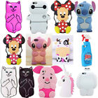 New 3D Cute Cartoon Soft Silicone Back Rubber Cover Case For iPhone 5C 6 6S/Plus
