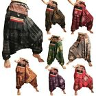 Gypsy Hippie Aladdin Hmong Hill Tribe Pattern Harem Pants Mens / Womens Trousers