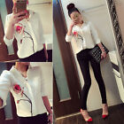 Women Tops Elegant Lapel Collar Blouse Floral Printing Loose Shirt Camisas EW