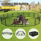 16 Panel Heavy Duty Metal Cage Crate Dog Fence Exercise Playpen Outdoor Indoor