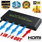 Ultra HD 4K HDMI Splitter 1X2 1X4 1X8 Amplifier Repeater 3D 1080p 1 IN 2 OUT Hub