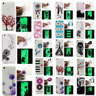 Night Luminous Glow Fashion Pattern Soft TPU Gel Back Case Cover For Multi Phone