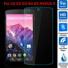 9H+ Premium 2.5D HD Real Tempered Glass Screen Protector Film For LG G2 G3 G4 G5