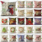 2016 Christmas Cartoon Decor Festival Home Sofa Decor Pillow Case Cushion Cover