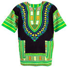 42 Color Dashiki African Mexican Poncho Tribal Shirt Blouse Cotton Unisex Var ca