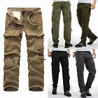 MENS ARMY CARGO CAMO COMBAT MILITARY TROUSERS CAMOUFLAGE CASUAL PANTS UK 32-38