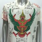 w57 M L XL Japanese Irezumi Tattoo VNECK T-shirt Garuda God Hindu Soft Cotton