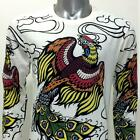 ls21 Japanese Irezumi Tattoo Long Sleeve T-shirt Phoenix Immortal Soft Cotton