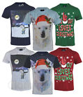 Mens Christmas Xmas Novelty  T shirt Top 100% Cotton Santa Gift
