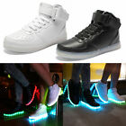 Fashion 7 Colours Of Light High-Top Light Up Shoes LED Sneakers Full Size Newest