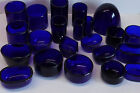 Replacement Colbalt Blue Glass Liners for Salts/Mustard/Inkwell - Please Choose