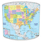 USA Maps Table Lamp shades Or Ceiling Light shades Pendants Lighting Lightshades