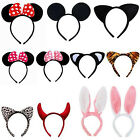 Women Girl Minnie Mouse Ears Bow Cute Headband Hen Night Mickey Party Hairpin