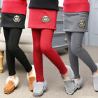Autumn Winter New Kids Girls Casual Stretchy Long Skirt Leggings Trousers Pants