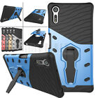Hybrid Rugged Shockproof Armor Case Stand Rubber Cover For Sony Xperia XZ