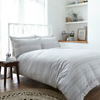 Bianca Cotton Soft Woven 100% Cotton Stripe Duvet Cover and Pillowcase Set