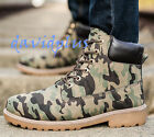 Mens stylish Ankle short combat military Boots Lace up outdoor shoes Plus Size