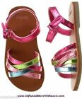 Gymboree NWT Pink Metallic FAUX LEATHER LUXE STRAPS SANDALS DRESS SHOES US 3 4