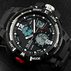 Men's Sport Digital Analog Dual Time Alarm Date Waterproof Wrist Watch Sanwood