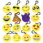 1PC Phone Bag Pendant Emoji Smiley Emoticon Keychain Plush Stuffed Cushion Toy