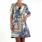 REPLAY Donna Vestito Estivo Colorato Blue W9685