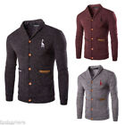 Fashion Men's Knitted Sweater Cardigan Casual Slim Fit Knitwear Tops Coat Jacket