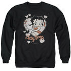 Betty 1930's Boop Cartoon American Icon Classic Kiss Adult Crewneck Sweatshirt $34.95 USD on eBay