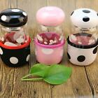 Portable Cute Mushroom BPA Free Glass Water Bottle With Tea Filter Protective