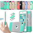 Slim Hybrid Rubber PC Shockproof Impact Hard Case Cover for iPod Touch 6/5th Gen