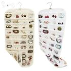 80 Pockets Jewelry Hanging Organizer Storage Holder Closet Earring Display Bag